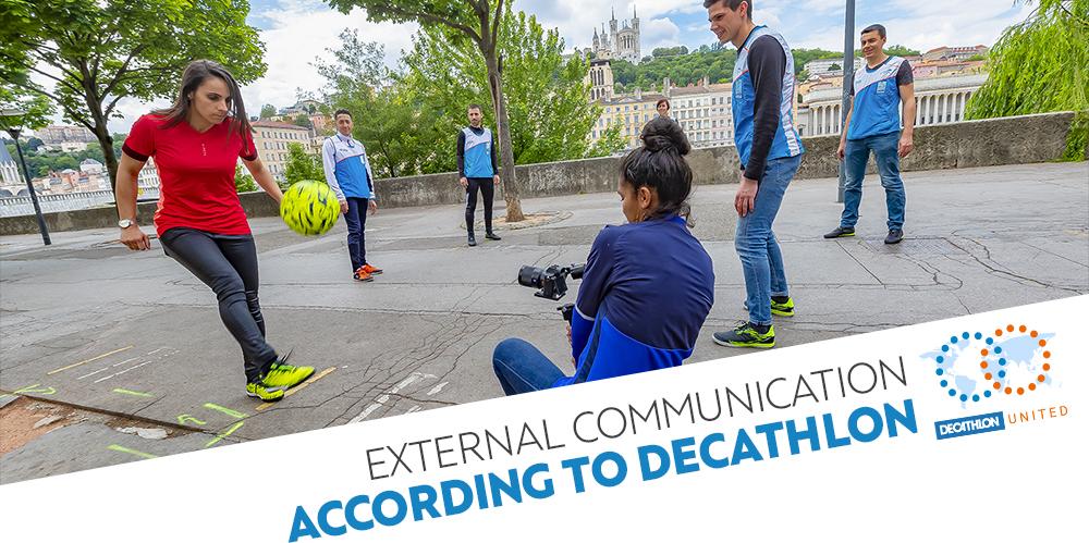 External communication according to Decathlon / Decathlon United