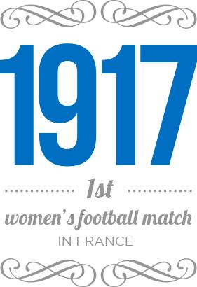 1917 : 1st women's football match in France